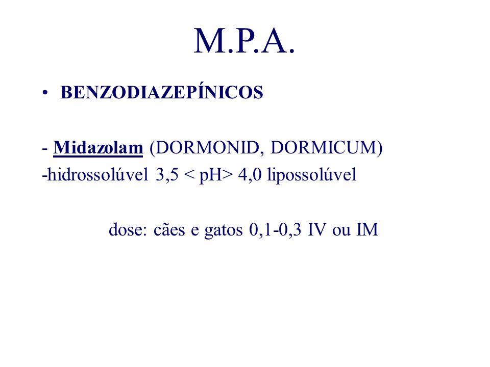M.P.A. BENZODIAZEPÍNICOS - Midazolam (DORMONID, DORMICUM)