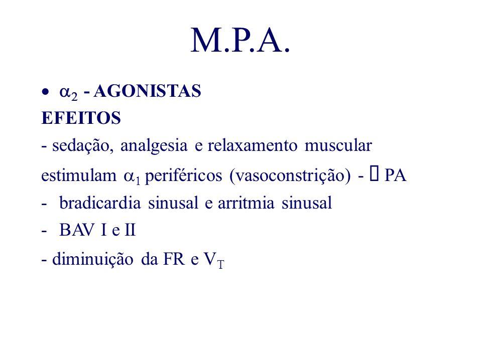 M.P.A. a2 - AGONISTAS EFEITOS