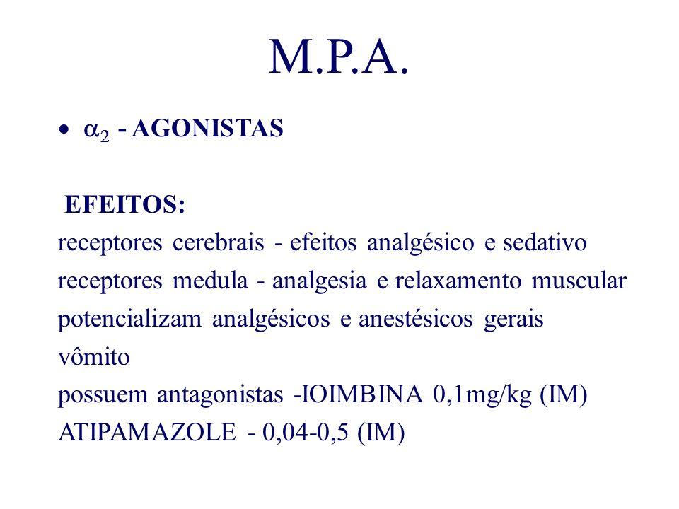 M.P.A. a2 - AGONISTAS EFEITOS: