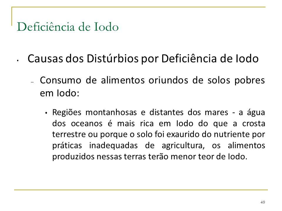 Deficiência de Iodo Causas dos Distúrbios por Deficiência de Iodo