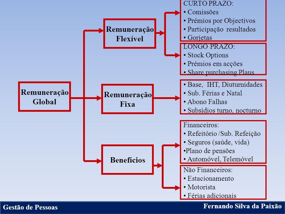 Remuneração Flexível Remuneração Global Remuneração Fixa Benefícios