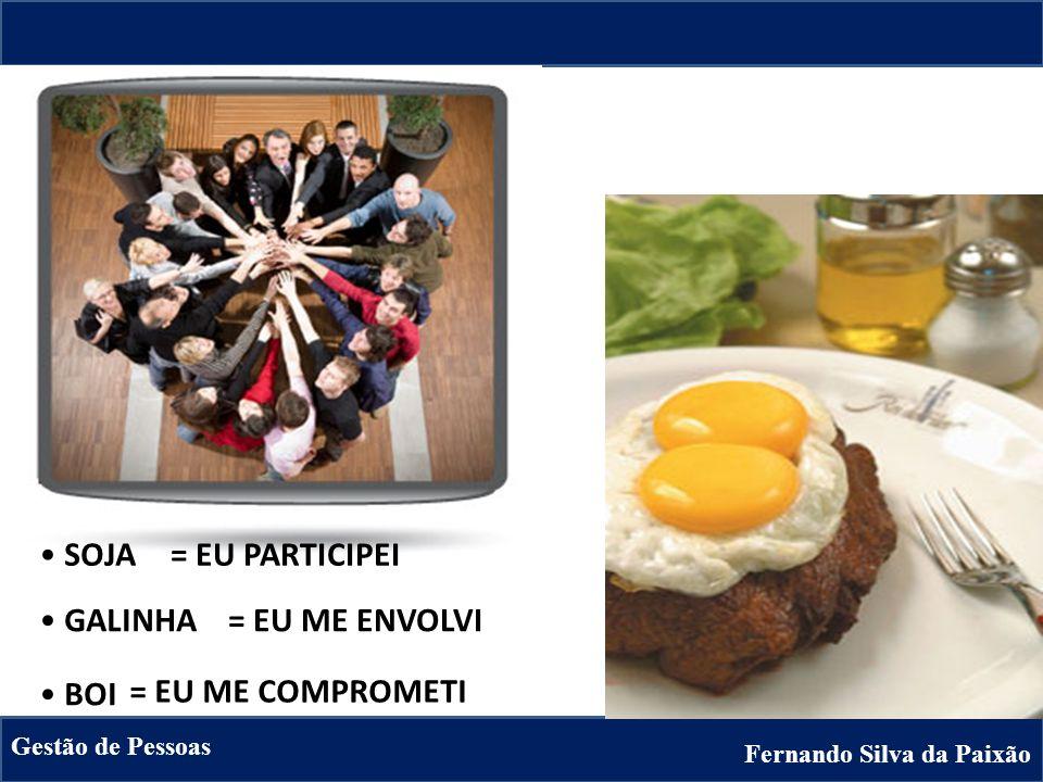 SOJA = EU PARTICIPEI GALINHA = EU ME ENVOLVI BOI = EU ME COMPROMETI