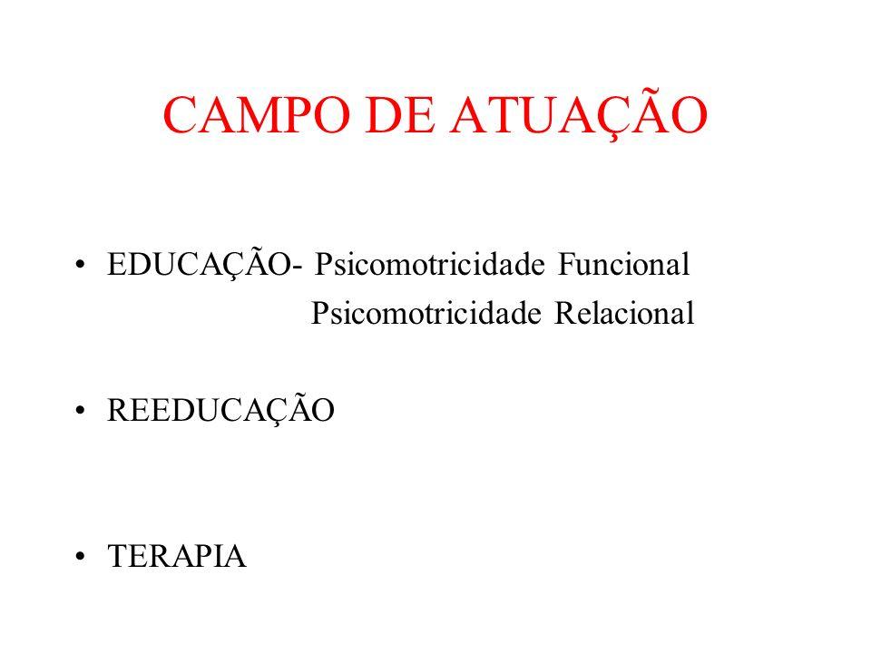CAMPO DE ATUAÇÃO EDUCAÇÃO- Psicomotricidade Funcional