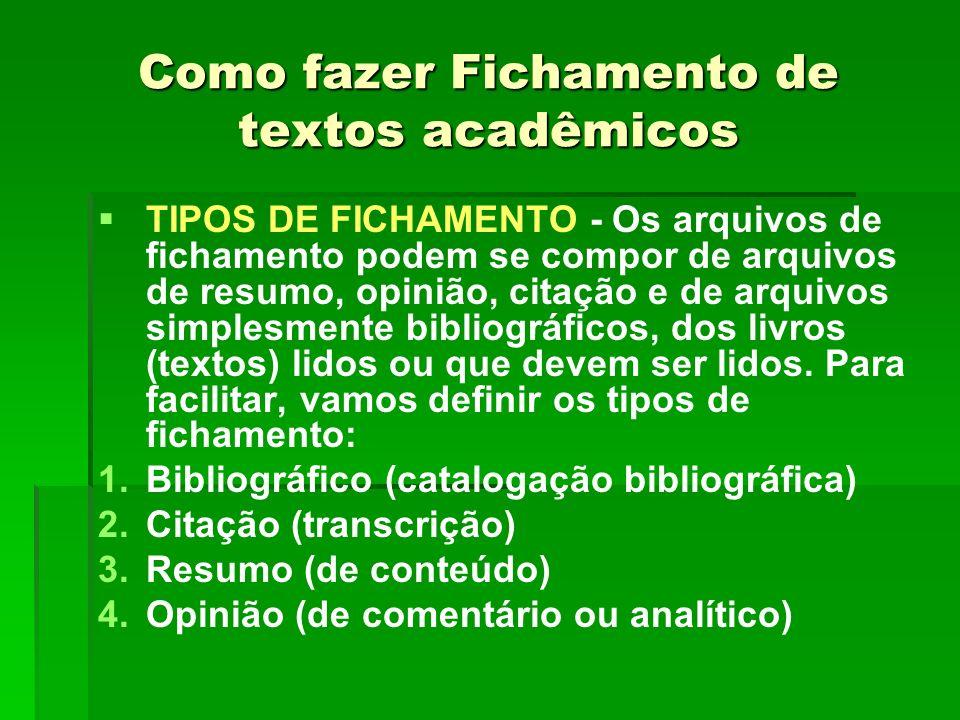 Como fazer Fichamento de textos acadêmicos