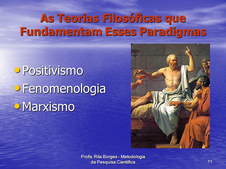 As Teorias Filosóficas que Fundamentam Esses Paradigmas