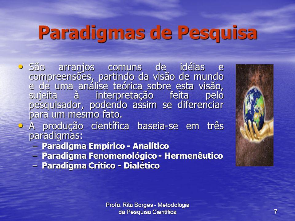 Paradigmas de Pesquisa