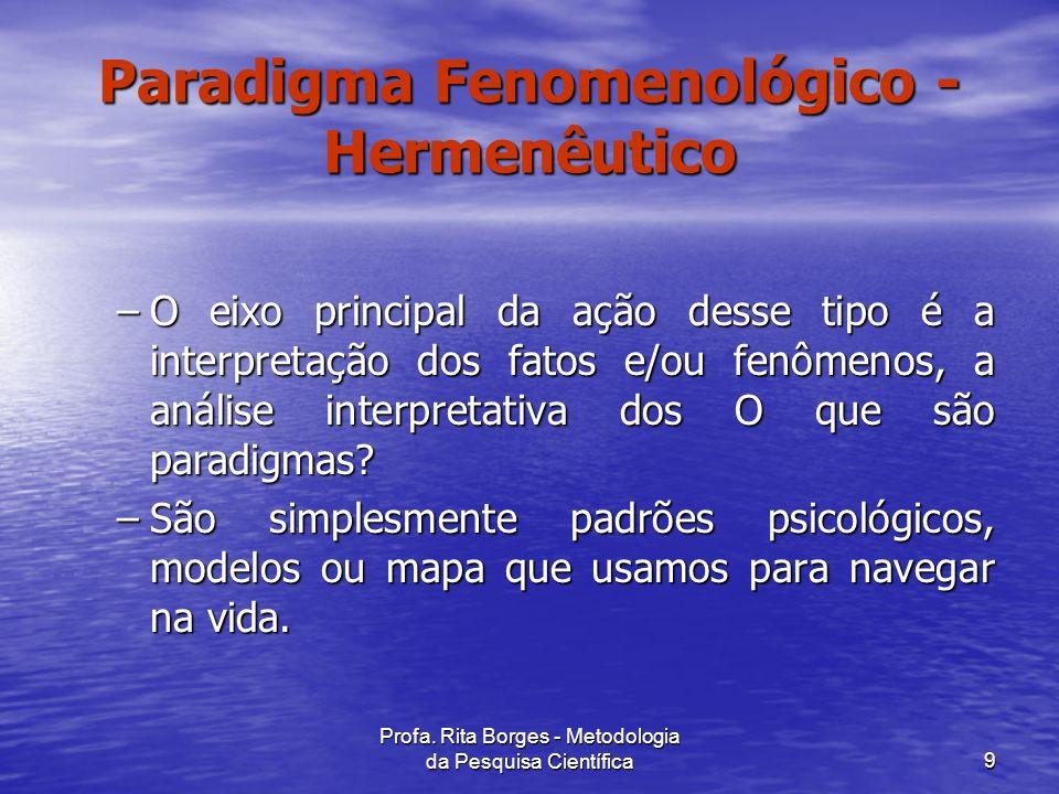 Paradigma Fenomenológico - Hermenêutico
