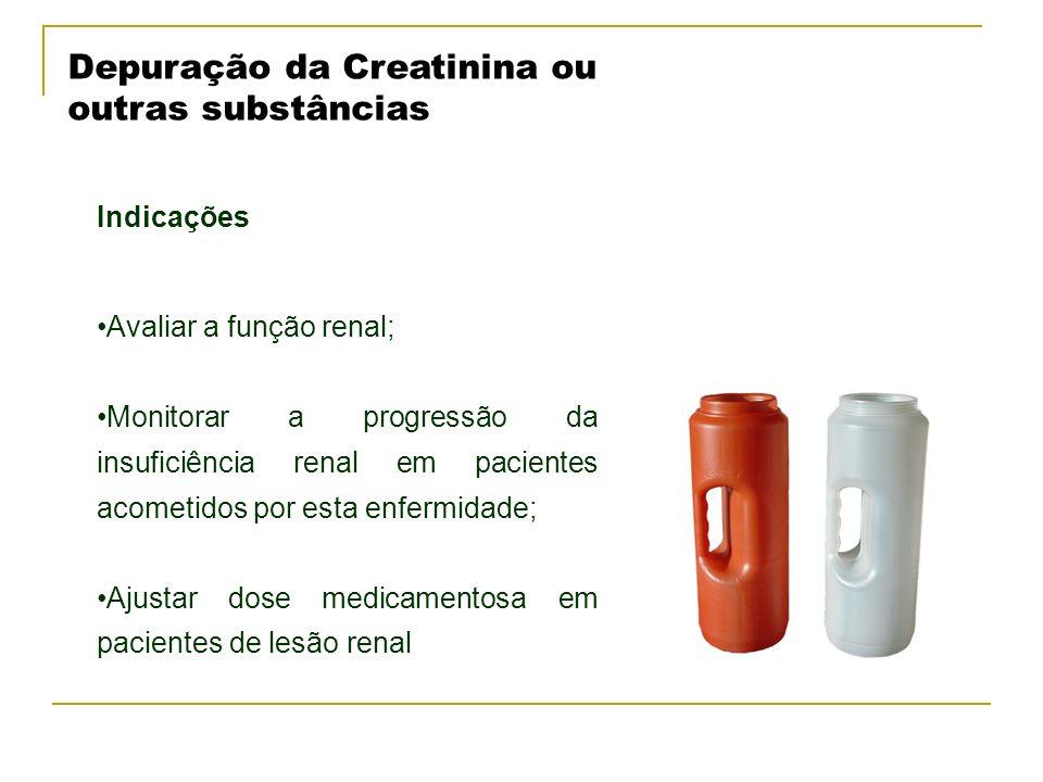 Depuração da Creatinina ou outras substâncias