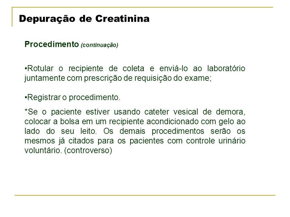 Depuração de Creatinina