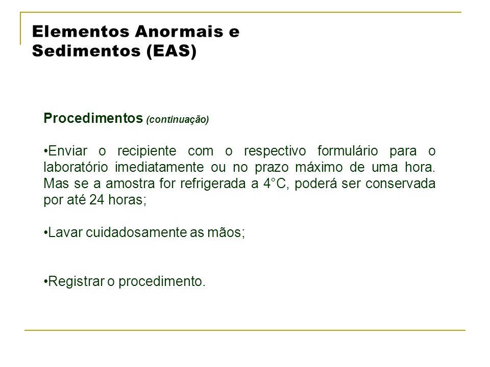 Elementos Anormais e Sedimentos (EAS)
