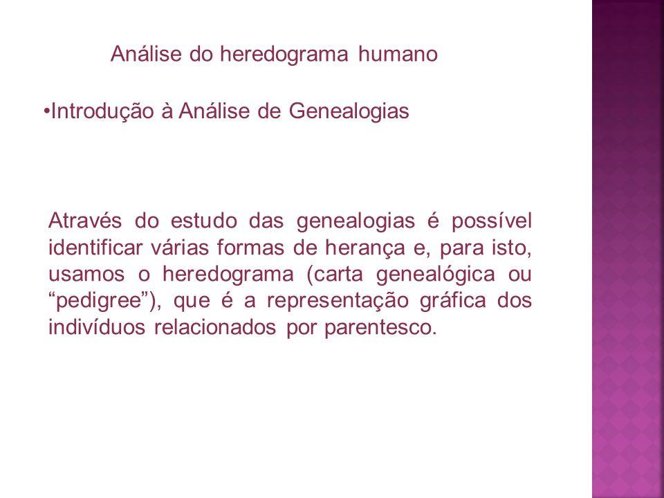 Análise do heredograma humano