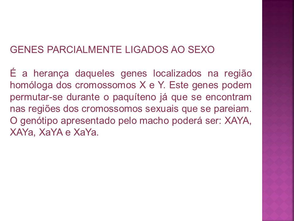 GENES PARCIALMENTE LIGADOS AO SEXO