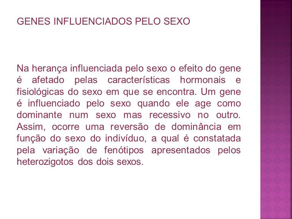 GENES INFLUENCIADOS PELO SEXO