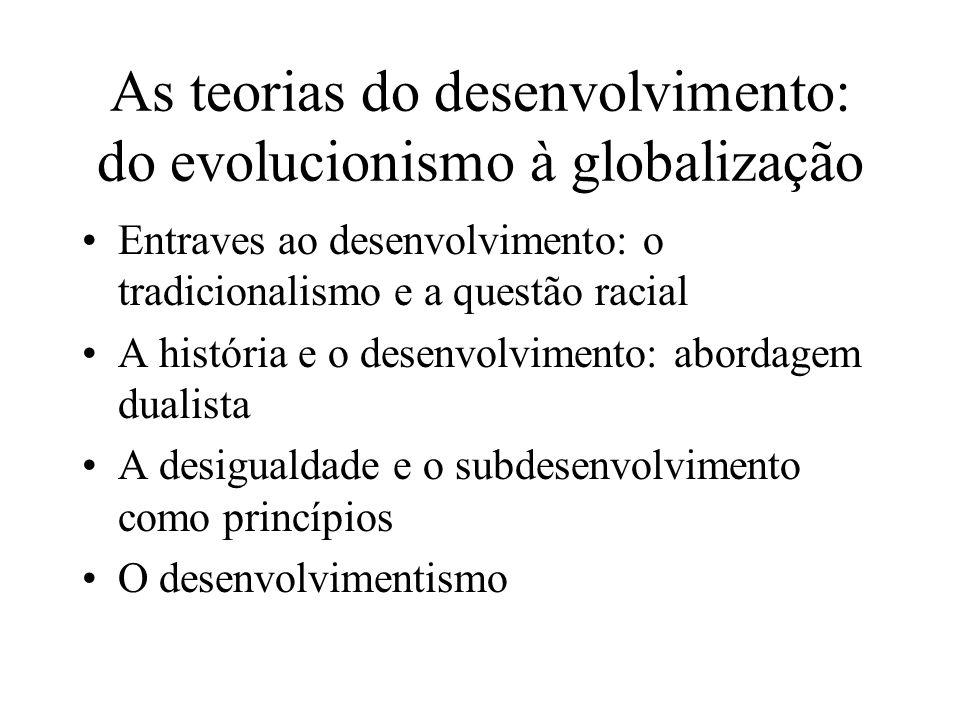 As teorias do desenvolvimento: do evolucionismo à globalização