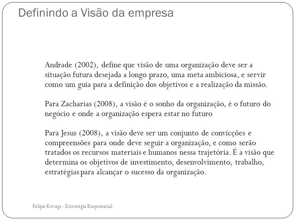 Definindo a Visão da empresa