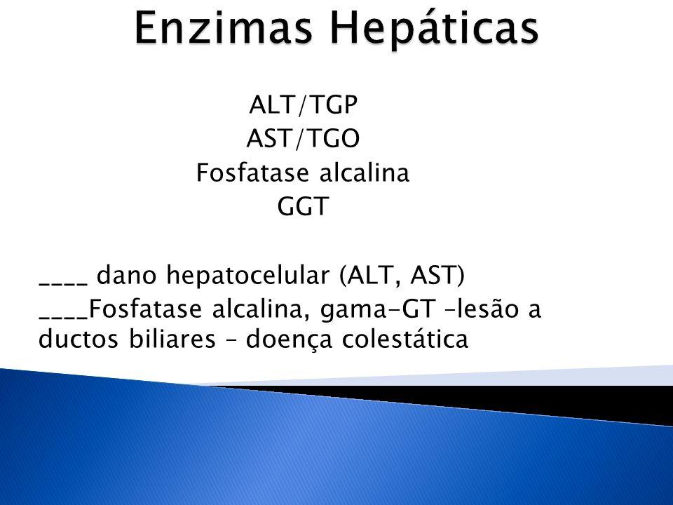 Enzimas Hepáticas ALT/TGP AST/TGO Fosfatase alcalina GGT