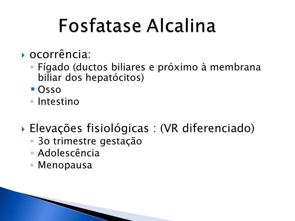 Fosfatase Alcalina ocorrência: