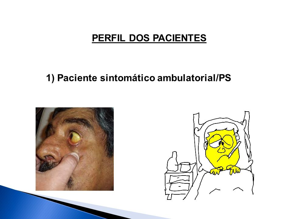 PERFIL DOS PACIENTES 1) Paciente sintomático ambulatorial/PS