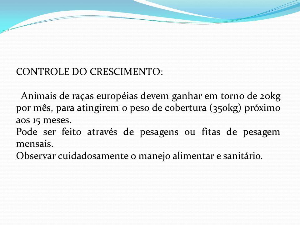 CONTROLE DO CRESCIMENTO: