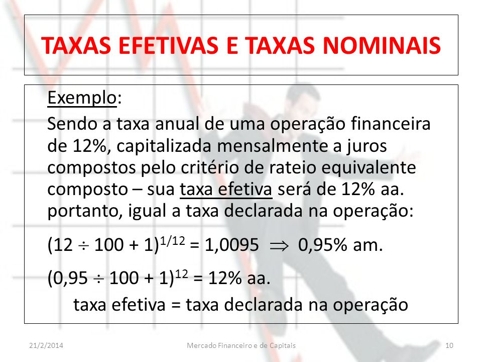 TAXAS EFETIVAS E TAXAS NOMINAIS