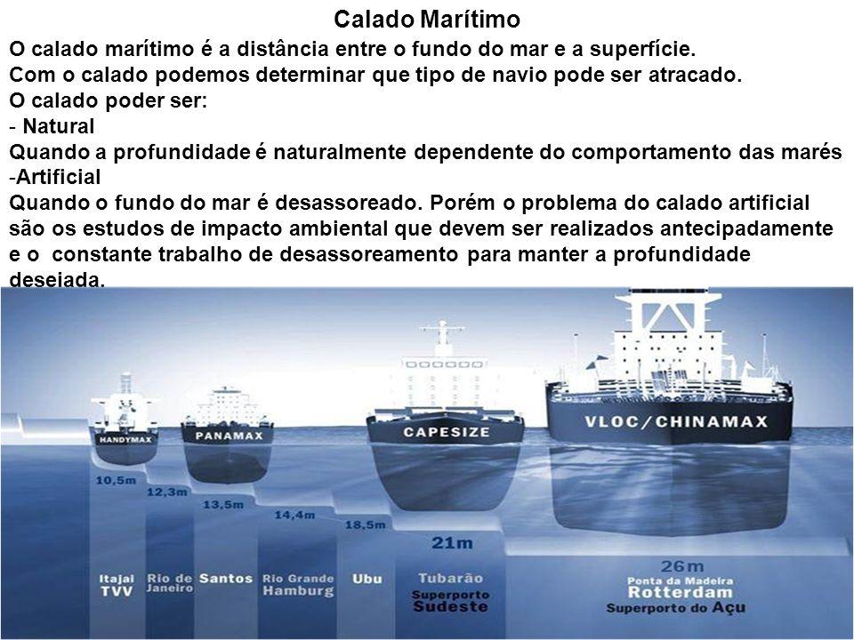 Calado MarítimoO calado marítimo é a distância entre o fundo do mar e a superfície.