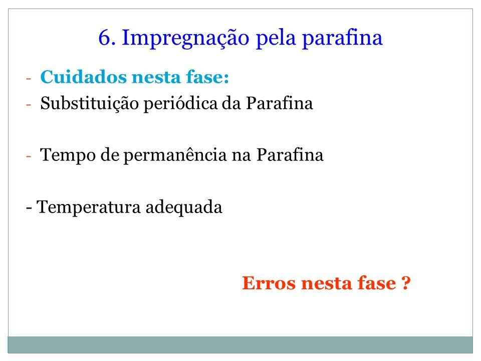 6. Impregnação pela parafina