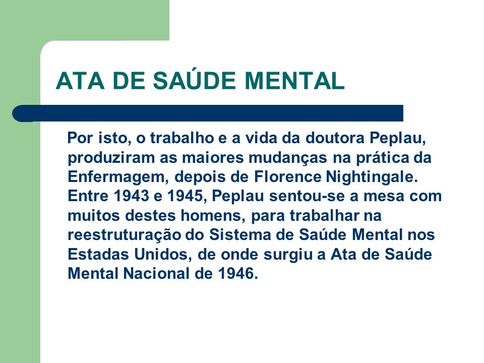 ATA DE SAÚDE MENTAL