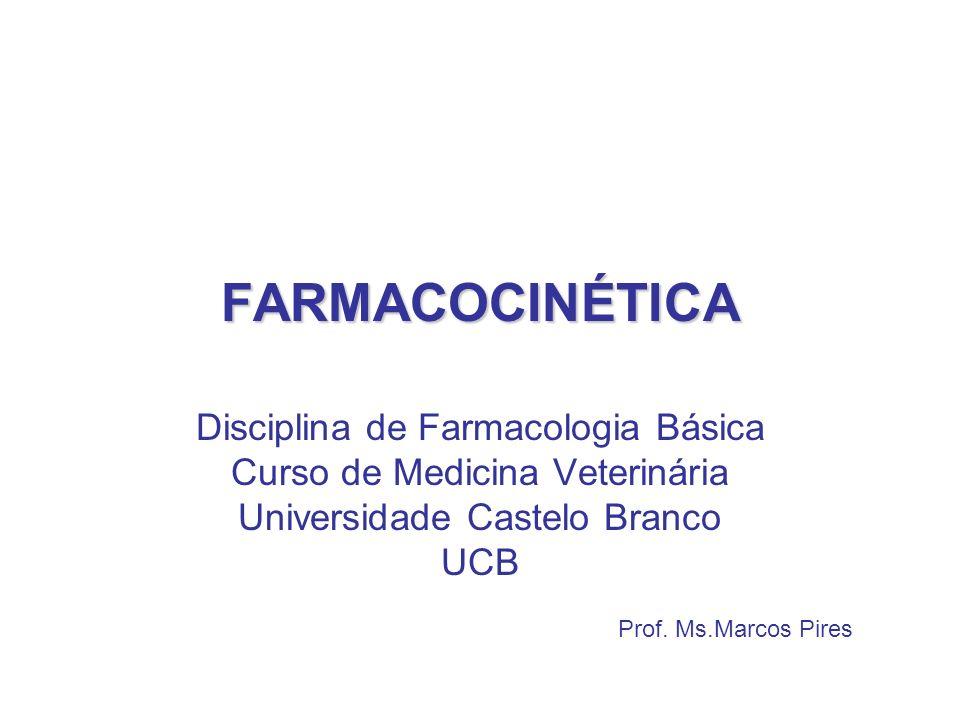 FARMACOCINÉTICA Disciplina de Farmacologia Básica