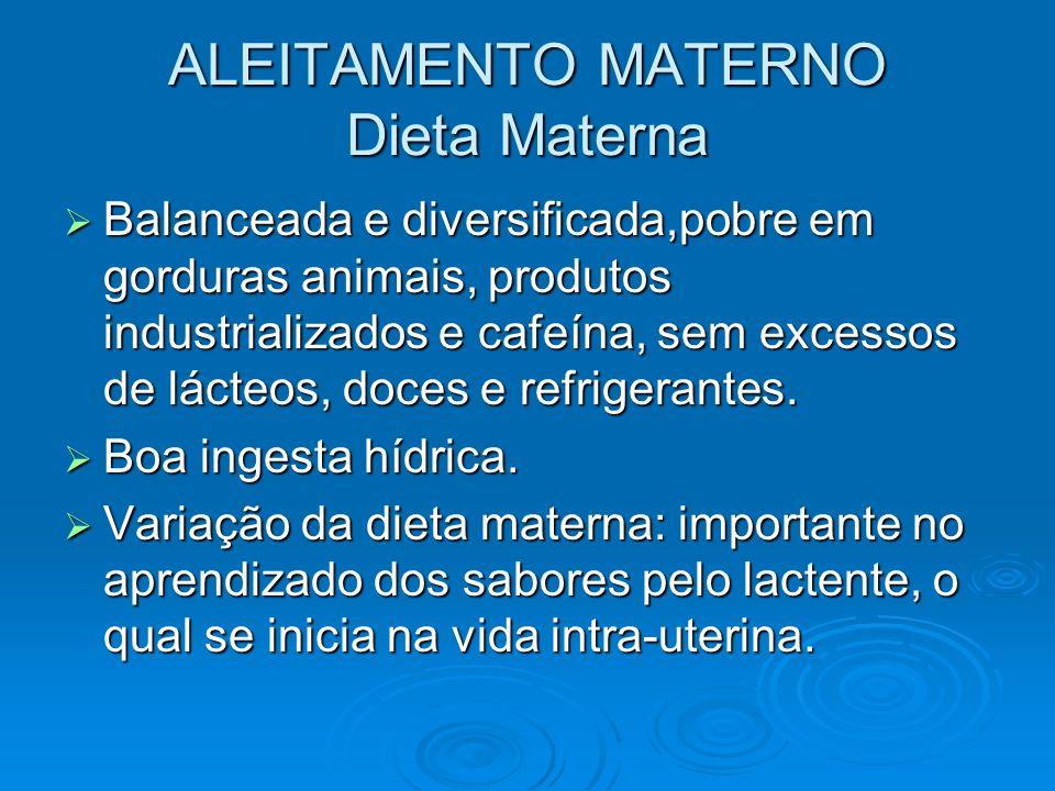 ALEITAMENTO MATERNO Dieta Materna