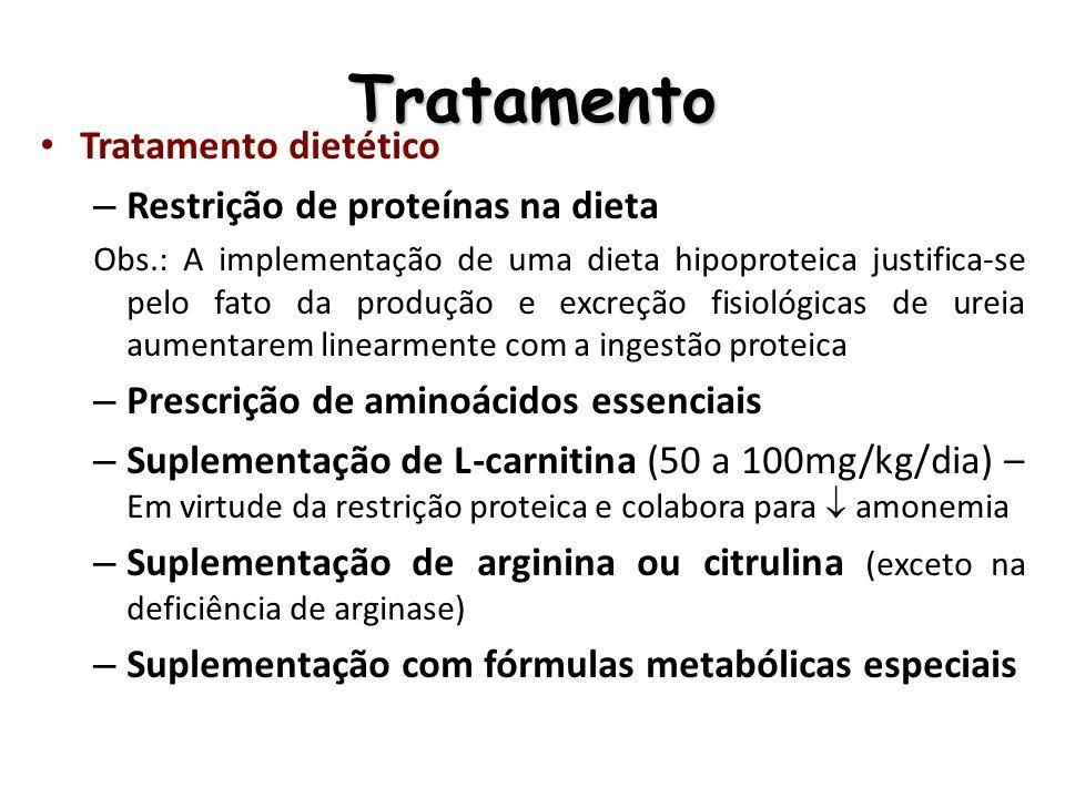 Tratamento Tratamento dietético Restrição de proteínas na dieta