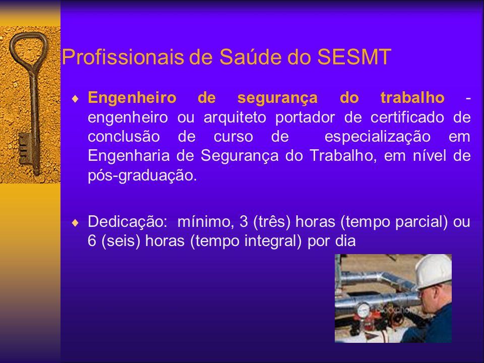 Profissionais de Saúde do SESMT