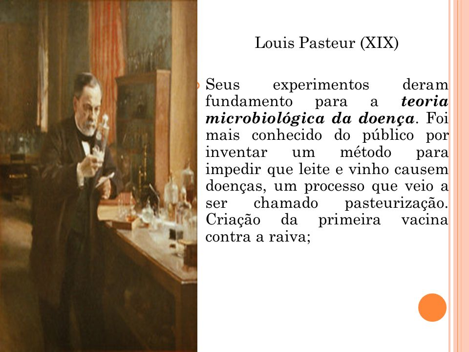 Louis Pasteur (XIX)