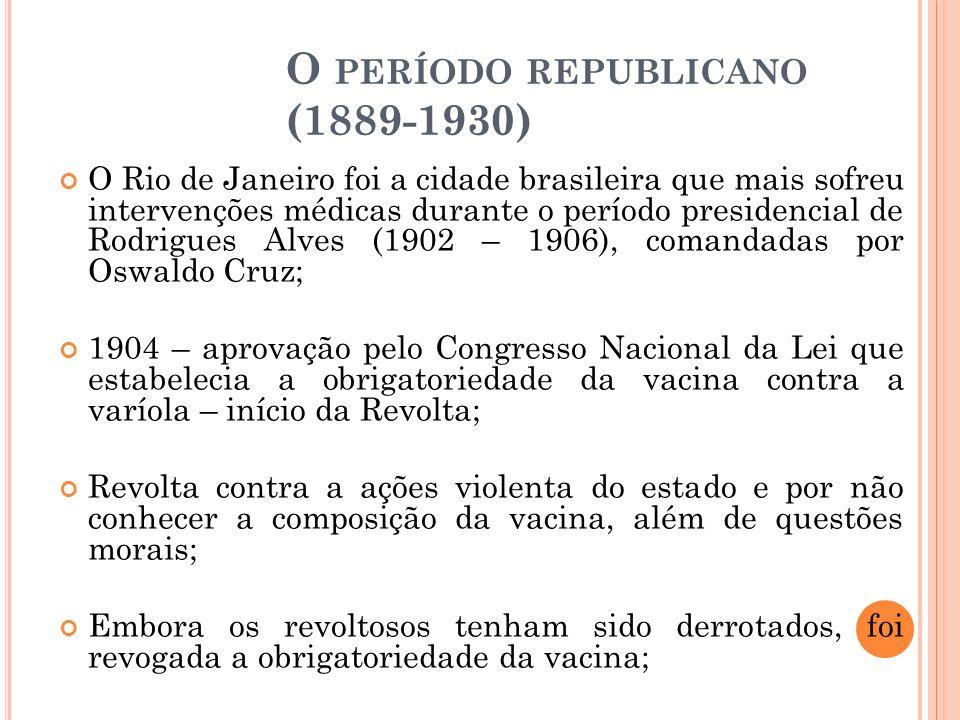 O período republicano (1889-1930)