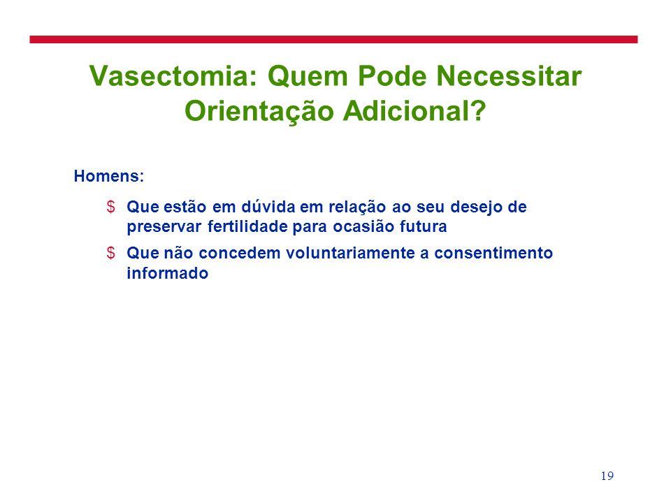 Vasectomia: Quem Pode Necessitar Orientação Adicional
