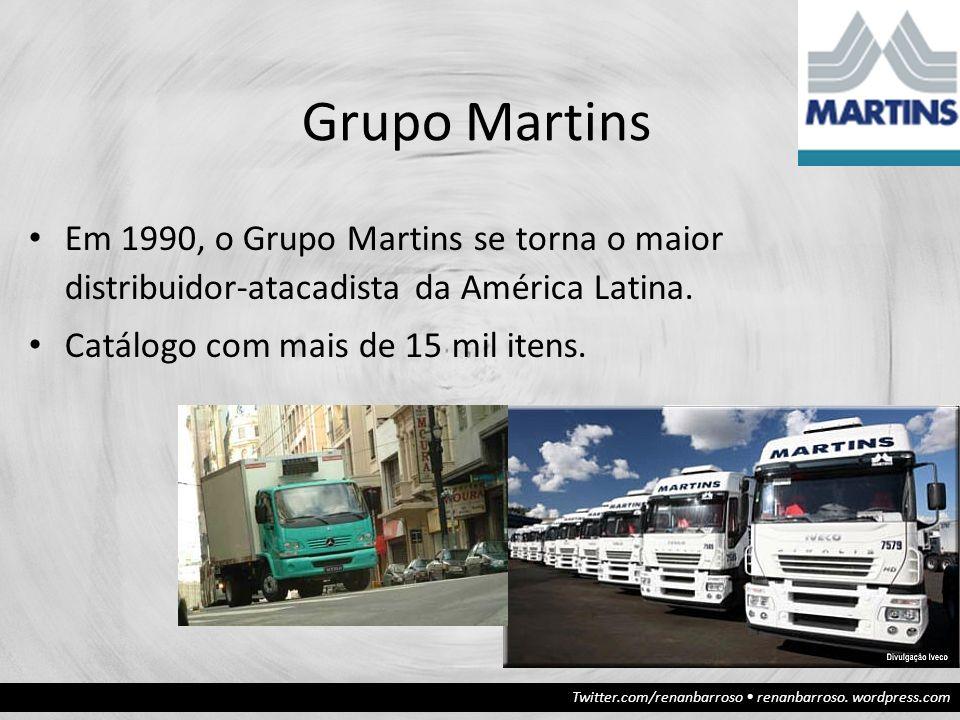 Grupo Martins Em 1990, o Grupo Martins se torna o maior distribuidor-atacadista da América Latina.