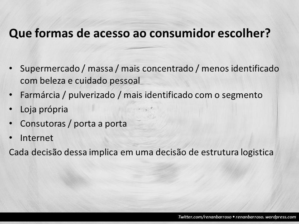 Que formas de acesso ao consumidor escolher