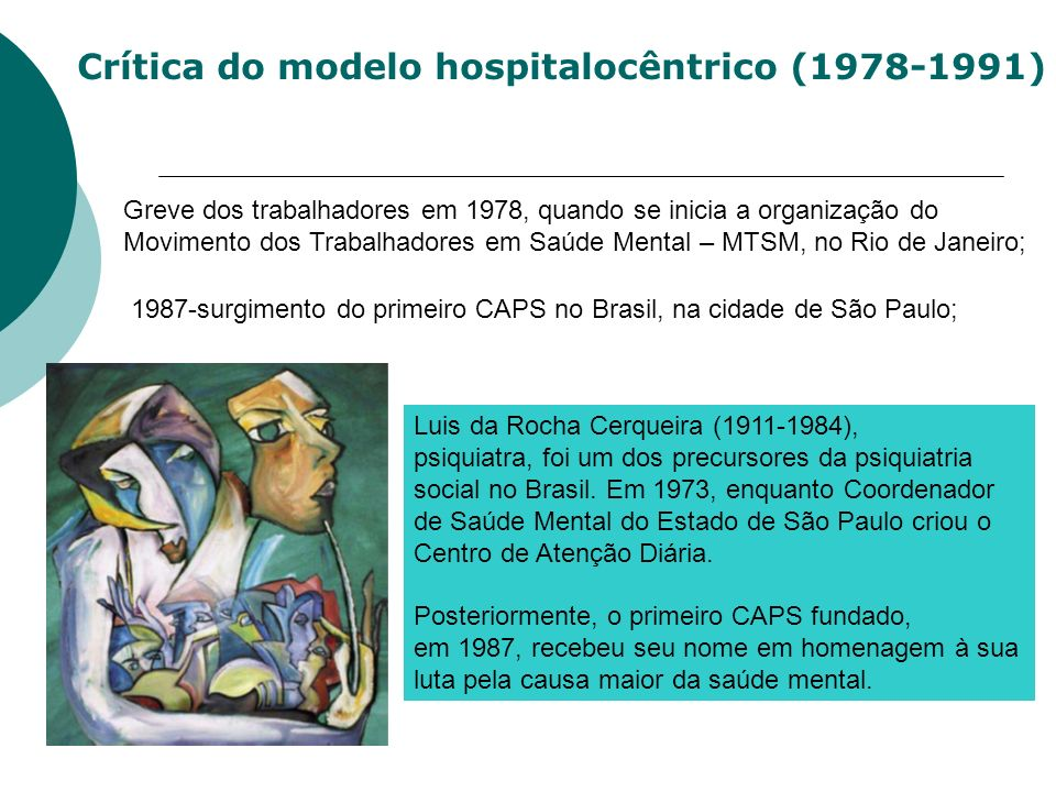 Crítica do modelo hospitalocêntrico (1978-1991)