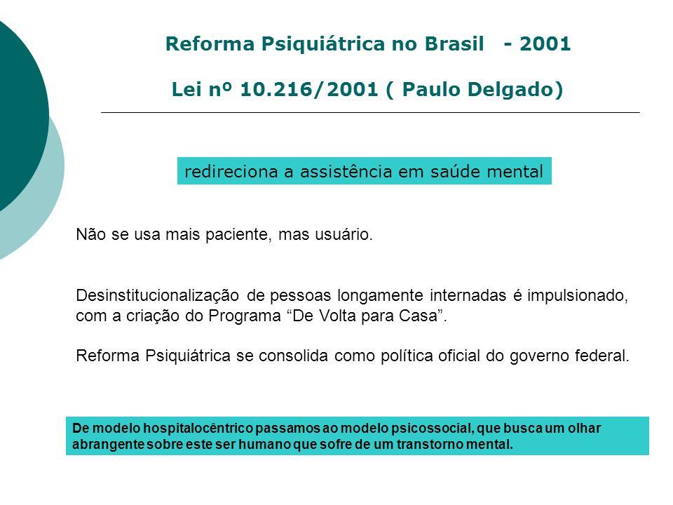 Reforma Psiquiátrica no Brasil - 2001