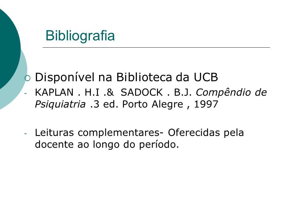 Bibliografia Disponível na Biblioteca da UCB