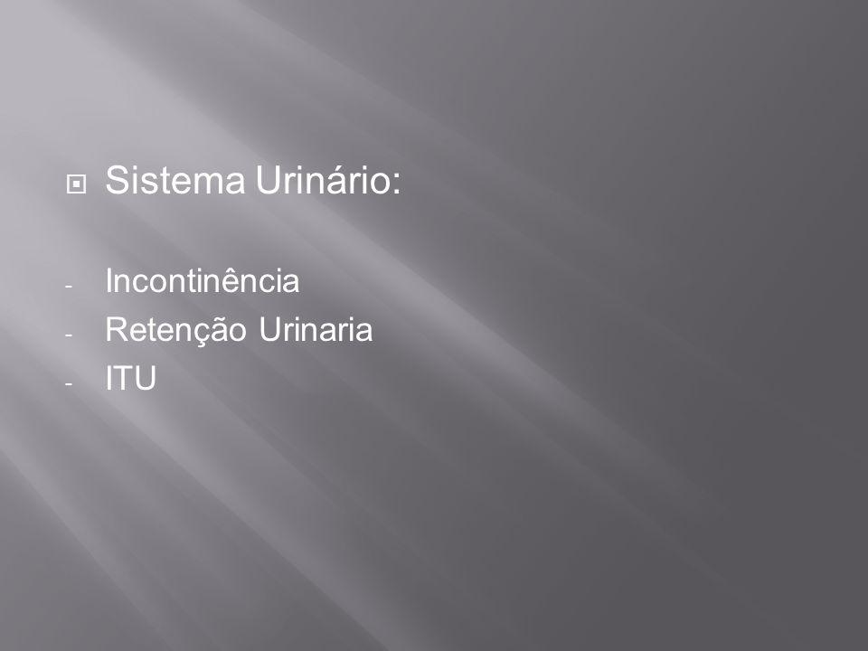 Sistema Urinário: Incontinência Retenção Urinaria ITU