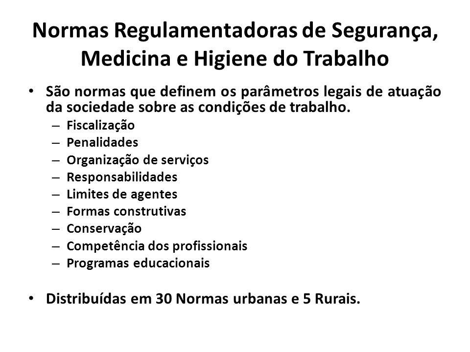 Normas Regulamentadoras de Segurança, Medicina e Higiene do Trabalho
