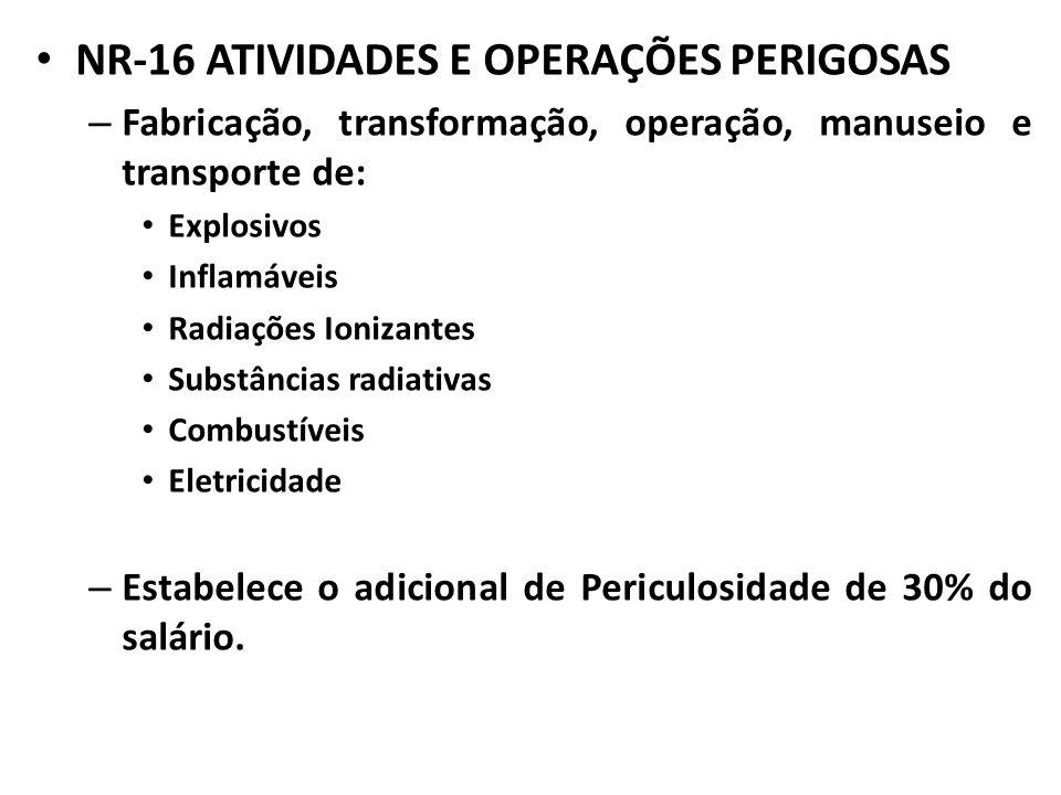 NR-16 ATIVIDADES E OPERAÇÕES PERIGOSAS