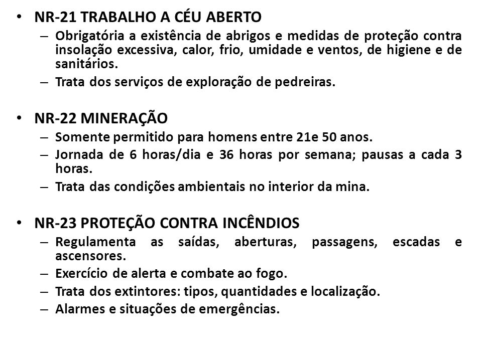 NR-21 TRABALHO A CÉU ABERTO