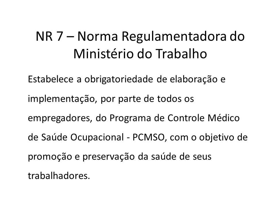 NR 7 – Norma Regulamentadora do Ministério do Trabalho