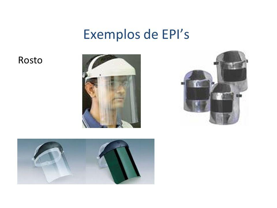 Exemplos de EPI's Rosto 35