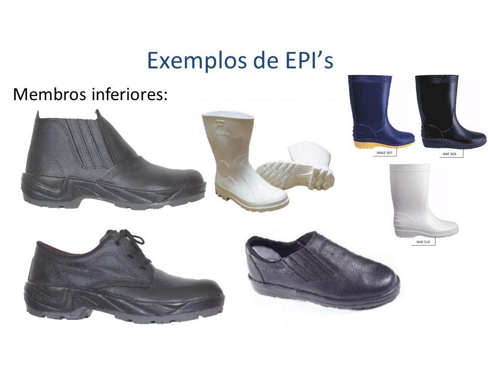 Exemplos de EPI's Membros inferiores: 42