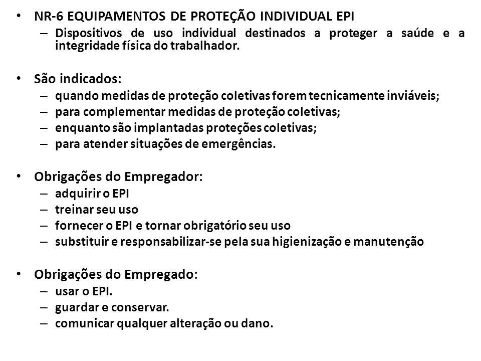 NR-6 EQUIPAMENTOS DE PROTEÇÃO INDIVIDUAL EPI