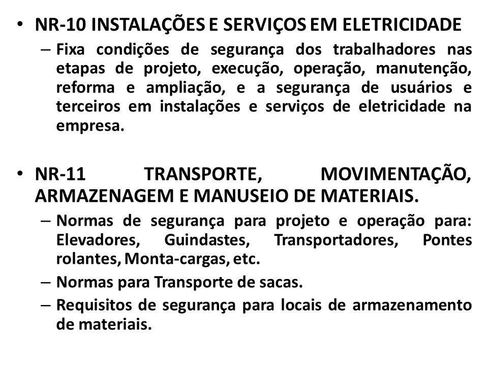 NR-10 INSTALAÇÕES E SERVIÇOS EM ELETRICIDADE