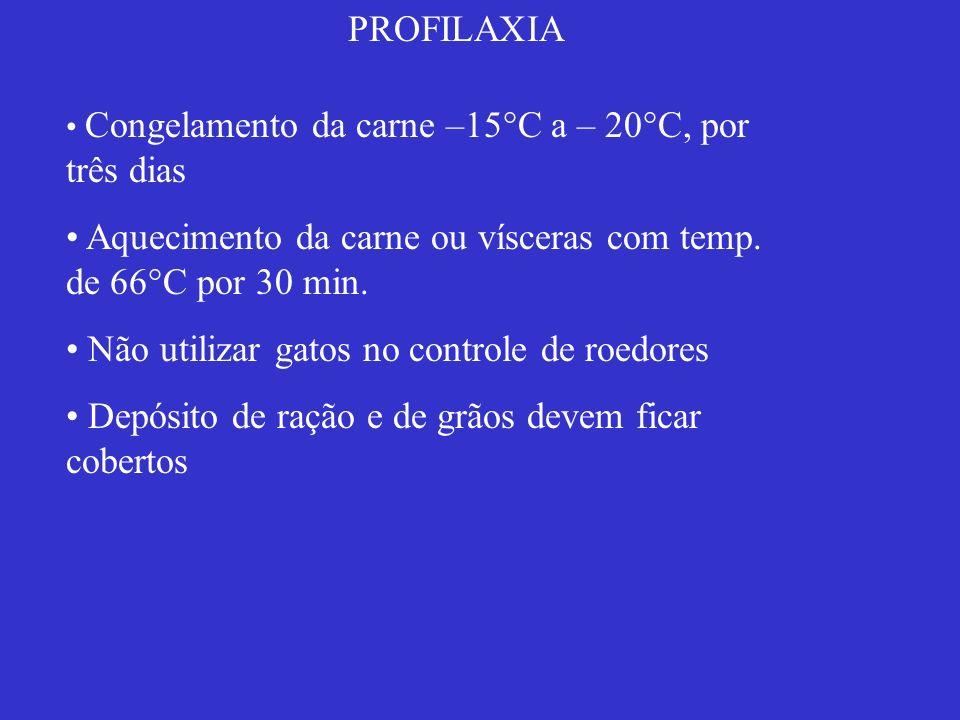 Aquecimento da carne ou vísceras com temp. de 66°C por 30 min.