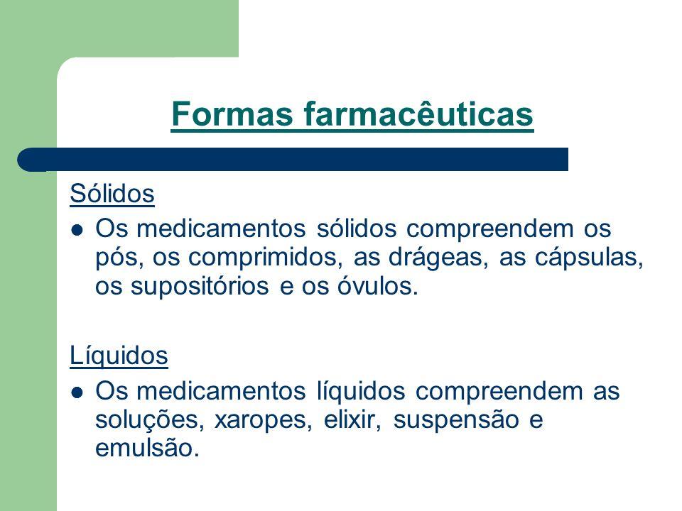 Formas farmacêuticas Sólidos